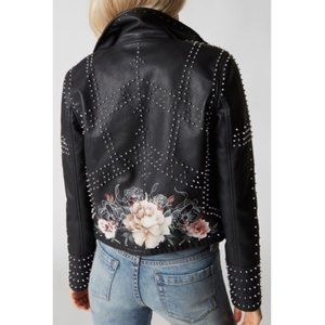 Blank NYC black studded moto jacket